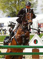 Andrew Nicholson and Calico Joe from New Zealand at the Rolex Three Day Event.   April 28, 2013..