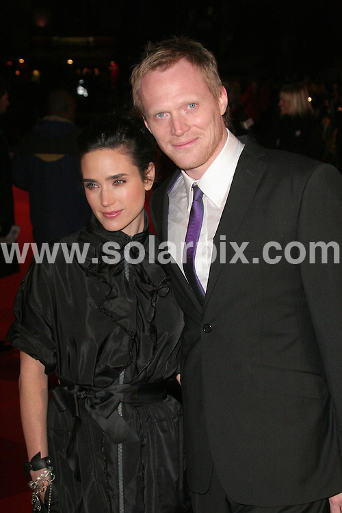 "ALL ROUND PICTURES FROM SOLARPIX.COM..**WORLDWIDE RIGHTS*.Paul Bettany and Jennifer Connelly arrive for the premiere of ""Blood Diamond"" at the Odeon, Leicester Square, London...REF: 3268      SSD        DATE: 23.1.07.**MUST CREDIT SOLARPIX.COM OR DOUBLE FEE WILL BE CHARGED**..MUST CREDIT SOLARPIX.COM OR DOUBLE FEE WILL BE CHARGED."