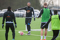 Wednesday  06 January 2016<br /> Pictured: Kyle Bartley of Swansea in action during training<br /> Re: Swansea City Training session at the Fairwood training ground, Swansea, Wales, UK