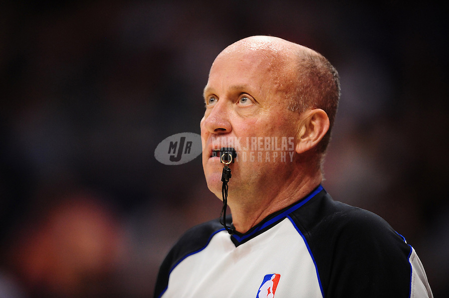 Apr. 13, 2011; Phoenix, AZ, USA; NBA referee David Jones during the game between the Phoenix Suns against the San Antonio Spurs at the US Airways Center. Mandatory Credit: Mark J. Rebilas-