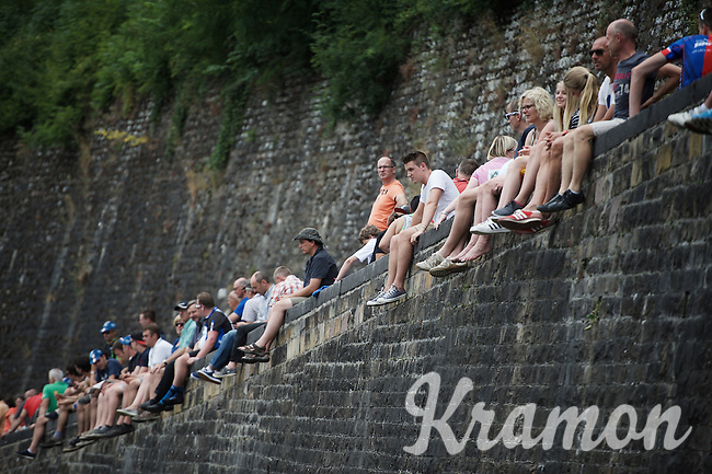 fans await the riders up the Citadel de Namur<br /> <br /> stage 4: Seraing (BEL) - Cambrai (FR) <br /> 2015 Tour de France