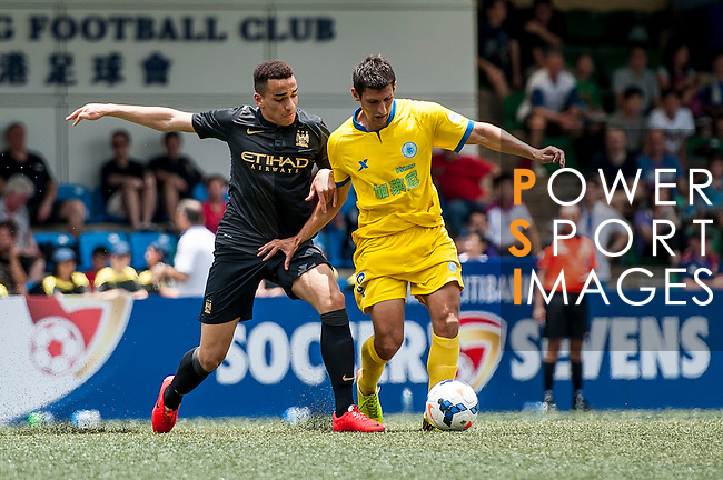 Manchester City vs BC Rangers during the Day 2 of the HKFC Citibank Soccer Sevens 2014 on May 24, 2014 at the Hong Kong Football Club in Hong Kong, China. Photo by Xaume Olleros / Power Sport Images