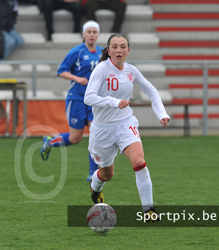 UEFA Women's Under 17 Championship - Second Qualifying round - group 1 : England - Iceland : ...foto DAVID CATRY / Vrouwenteam.be