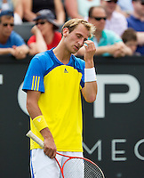 17-06-13, Netherlands, Rosmalen,  Autotron, Tennis, Topshelf Open 2013, ,  Thiemo de Bakker is frustrated<br />