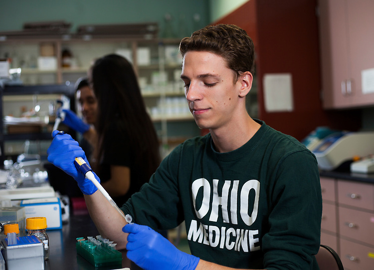 Luc Messenger. © Ohio University / Photo by Kaitlin Owens
