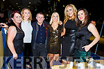 Leonie and Fiona Donnelly, James Sheehan, Marguerite Fleming, Gillian O'Donoghue and Karen Clifford from Killarney enjoying the Kingdom Greyhound track on Friday night.
