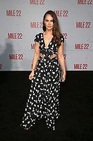 9 August 2018-  Westwood, California - Kristy Dawn Dinsmore. Premiere Of STX Films' &quot;Mile 22&quot; held at The Regency Village Theatre. <br /> CAP/MPIFS<br /> &copy;MPIFS/Capital Pictures