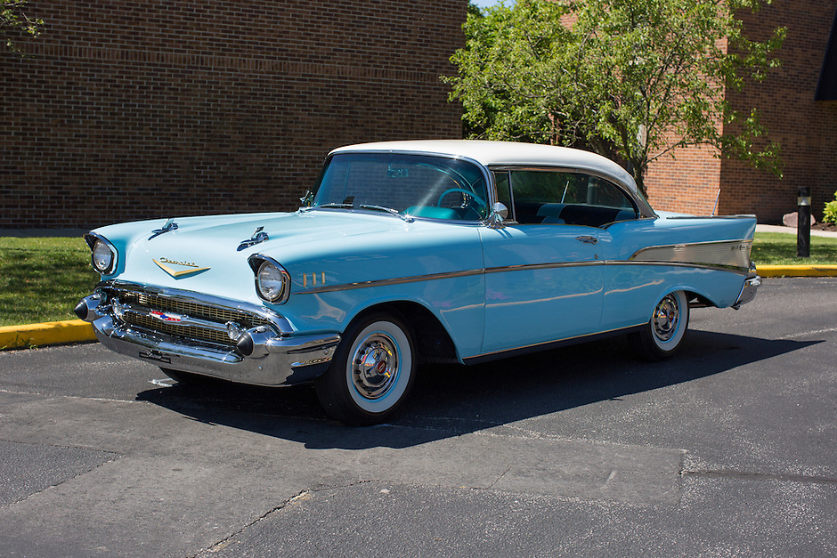 1957 Contemporary Junior (#47) – 1957 Chevrolet Bel Air 2-Door Hardtop registered to Jerry W. Shull is pictured during 4th State Representative Chevy Show on Thursday, June 30, 2016, in Fort Wayne, Indiana. (Photo by James Brosher)