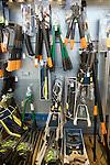 Garden tools on sale in shop