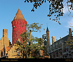 Gruuthuse Palace and Museum Towers at Sunset, Bruges, Brugge, Belgium