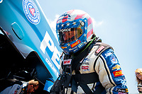 Jun 8, 2019; Topeka, KS, USA; NHRA funny car driver John Force during qualifying for the Heartland Nationals at Heartland Motorsports Park. Mandatory Credit: Mark J. Rebilas-USA TODAY Sports
