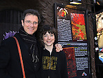 Son JQ came to see his dad James DePaiva star in Nightmare Alley - a new musical - on April 2, 2011 at the Players Theatre, New York City, New York. James stars with Nickki Switzer, Dominique Plaisant, Zonya Love, Sheila Coyle, Jeremiah James, Joseph Dellger along with Steven Landau (Musical Director/Pianist) (L), Stella Berg (Stage Manager) & Barbara Ligeti & Jonathan Brielle (Book writer, Composer & Lyricist).  (Photo by Sue Coflin/Max Photos)