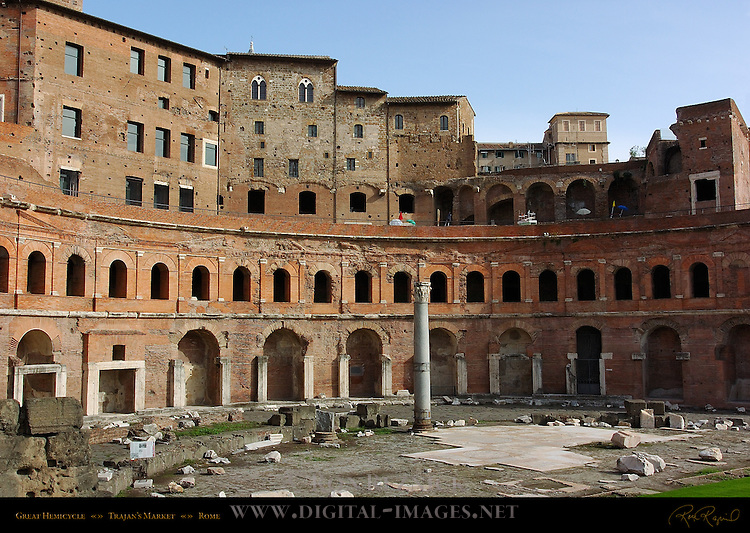 Great Hemicycle of Trajan's Market and Medieval Apartments Trajan's Forum Rome