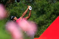 Shubhankar Sharma (IND) on the 2nd tee during the 2nd round at the WGC HSBC Champions 2018, Sheshan Golf CLub, Shanghai, China. 26/10/2018.<br /> Picture Fran Caffrey / Golffile.ie<br /> <br /> All photo usage must carry mandatory copyright credit (&copy; Golffile | Fran Caffrey)