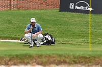 Tyrrell Hatton (ENG) looks over his putt on 16 during round 4 of the 2019 Charles Schwab Challenge, Colonial Country Club, Ft. Worth, Texas,  USA. 5/26/2019.<br /> Picture: Golffile | Ken Murray<br /> <br /> All photo usage must carry mandatory copyright credit (© Golffile | Ken Murray)