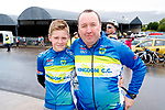 Adam and Maurice Lenihan at the Stephenie O'Sullivan Memorial Cycle at Milton on Sunday.