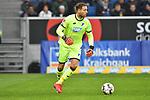 Hoffenheims Oliver Baumann (Nr.1) am Ball beim Spiel in der Fussball Bundesliga, TSG 1899 Hoffenheim - Fortuna Duesseldorf.<br /> <br /> Foto © PIX-Sportfotos *** Foto ist honorarpflichtig! *** Auf Anfrage in hoeherer Qualitaet/Aufloesung. Belegexemplar erbeten. Veroeffentlichung ausschliesslich fuer journalistisch-publizistische Zwecke. For editorial use only. DFL regulations prohibit any use of photographs as image sequences and/or quasi-video.