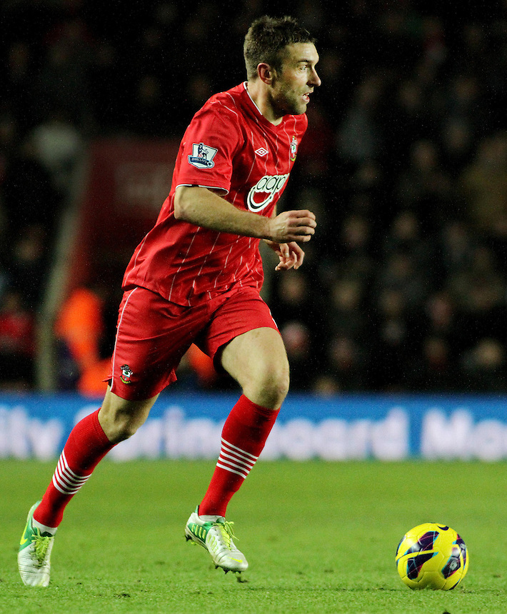 Southampton's Rickie Lambert in action during todays match.  ..- Credit - CameraSport - James Marsh - ..Football - Barclays Premiership - Southampton v Everton - Monday 21st January 2013 - St Mary's - Southampton..