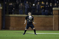 WINSTON-SALEM, NC - DECEMBER 01: Isaiah Parente #15 of Wake Forest University traps the ball during a game between Michigan and Wake Forest at W. Dennie Spry Stadium on December 01, 2019 in Winston-Salem, North Carolina.