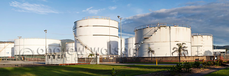 Fuel storage tanks at Portsmith.  Cairns, Queensland, Australia