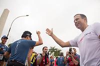 SAO PAULO, SP, 09.04.2016 -MARATONA-SP -Prefeito João Dória durante a largada do pelotão masculino na 23ª edição da Maratona Internacional de São Paulo, realizado na cidade de São Paulo, SP, neste domingo (09).(Foto: Danilo Fernandes/Brazil Photo Press)