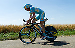 SITTARD, NETHERLANDS - AUGUST 16: Borut Bozic of Slovenia riding for Astana Pro Team competes during stage 5 of the Eneco Tour 2013, a 13km individual time trial from Sittard to Geleen, on August 16, 2013 in Sittard, Netherlands. (Photo by Dirk Markgraf/www.265-images.com)