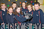 Pupils at Kilmoyley National School are celebrating their win at the FIS film award for their documentary 'Homemade Brown Bread'. .Front L-R Megan Moloney, Shannon Sheehan, Kellie Meehan and Sam McElligott. .Back L-R Jessica O'Sullivan, Ronan Wals and Ellen Cooke. .