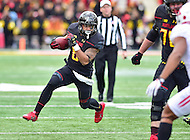 College Park, MD - NOV 26, 2016: Maryland Terrapins running back Ty Johnson (6) runs the ball during the game between Maryland and Rutgers at Capital One Field at Maryland Stadium in College Park, MD. Maryland defeated Rutgers 31-13. (Photo by Phil Peters/Media Images International)