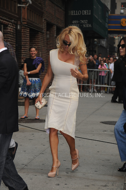 WWW.ACEPIXS.COM . . . . .....July 30, 2008. New York City.....Actress Pamela Anderson arrives for a taping of 'The Late Show with David Letterman' at the Ed Sullivan Theater on July 30, 2008 in New York City...  ....Please byline: Kristin Callahan - ACEPIXS.COM..... *** ***..Ace Pictures, Inc:  ..Philip Vaughan (646) 769 0430..e-mail: info@acepixs.com..web: http://www.acepixs.com