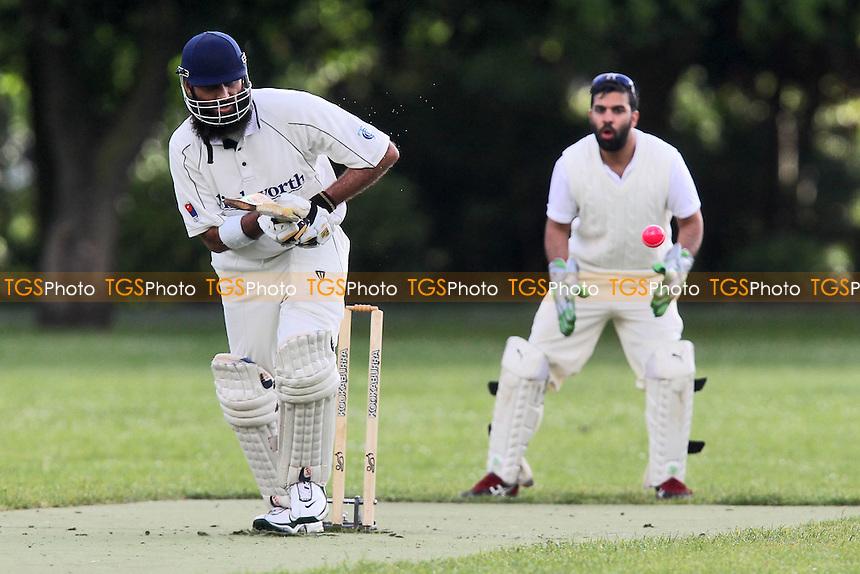 Sky CC (batting) vs Masiha CC - Victoria Park Community Cricket League at Victoria Park, London - 06/06/12 - MANDATORY CREDIT: Gavin Ellis/TGSPHOTO - Self billing applies where appropriate - 0845 094 6026 - contact@tgsphoto.co.uk - NO UNPAID USE.