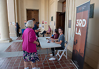 "Occidental College's 3rd LA (Re)Designing LA series concludes in Choi Auditorium at Occidental College on April 17, 2019. Hosted by Oxy Professor of Practice and Chief Design Officer for the City of Los Angeles Christopher Hawthorne, guest speakers and panelists discussed ""Turn Off the Sunshine: Shade as an Equity Issue in a Warming Los Angeles.""<br /> 3rd LA is co-sponsored by Occidental, the Mayor's Office and the Los Angeles Department of Cultural Affairs.<br /> (Photo by Marc Campos, Occidental College Photographer)"