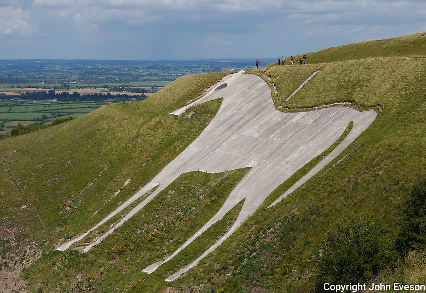 The Westbury or Bratton White Horse is a hill figure on the escarpment of Salisbury Plain