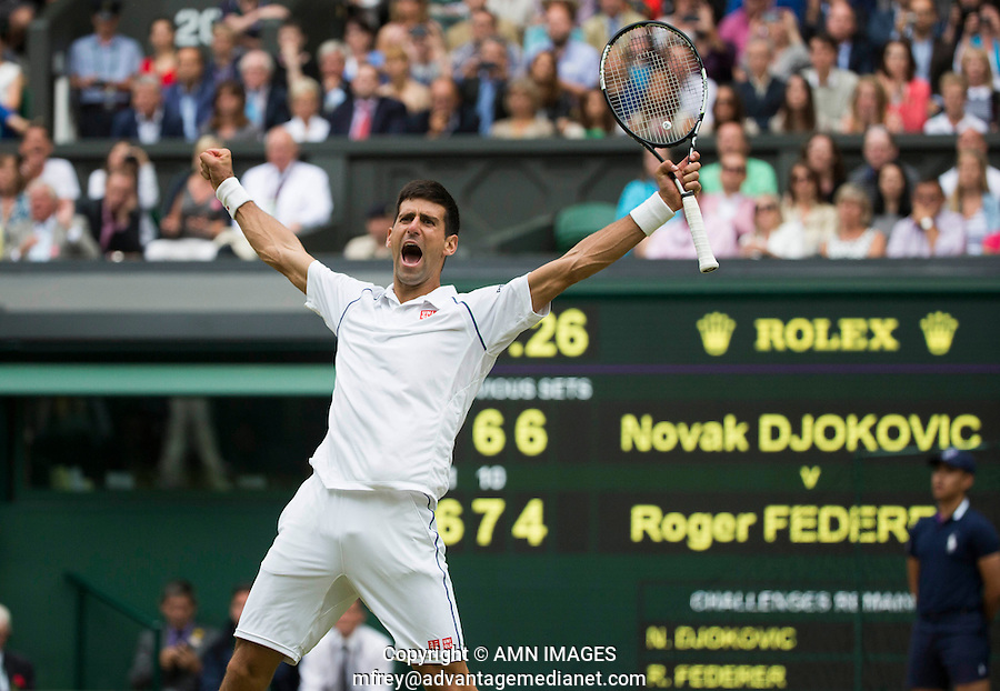 NOVAK DJOKOVIC (SRB)<br /> <br /> TENNIS - THE CHAMPIONSHIPS - WIMBLEDON 2015 -  LONDON - ENGLAND - UNITED KINGDOM - ATP, WTA, ITF <br /> <br /> &copy; AMN IMAGES23