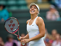 England, London, 28.06.2014. Tennis, Wimbledon, AELTC, Sabine Lisicki (GER)<br /> Photo: Tennisimages/Henk Koster