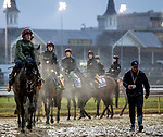 November 1, 2018: Horses enter the track for morning works in preparation for Breeders' Cup races at Churchill Downs on November 1, 2018 in Louisville, Kentucky. Carolyn Simancik/Eclipse Sportswire/CSM