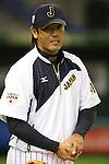 Atsunori Inaba (JPN), <br /> NOVEMBER 15, 2014 - Baseball : <br /> 2014 All Star Series Game 3 between Japan 4-0 MLB All Stars <br /> at Tokyo Dome in Tokyo, Japan. <br /> (Photo by Shingo Ito/AFLO SPORT)[1195]
