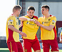 Albion's John Gemmell (centre) celebrates after he scores their second goal.