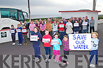 NO TO OUR WATER: The residents of Glenderry and Ballylongane objecting to the closure of the Glenderry Water-well Supply by Listowel area council at Glenderry NS on Tuesday...