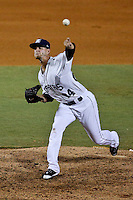 New Orleans Zephyrs pitcher Justin Nicolino (24) throws in a game against the Albuquerque Isotopes at Zephyr Field on May 28, 2015 in Metairie, Louisiana. (Derick E. Hingle/Four Seam Images)