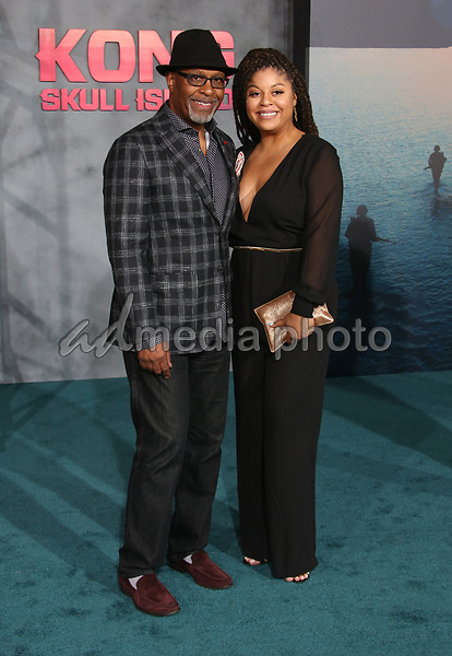 """08 March 2017 - Hollywood, California - James Pickens Jr., Gavyn Pickens. """"Kong: Skull Island"""" Los Angeles Premiere held at Dolby Theatre. Photo Credit: AdMedia"""