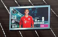 FUSSBALL   1. BUNDESLIGA  SAISON 2011/2012   5. Spieltag FC Bayern Muenchen - SC Freiburg         10.09.2011 Anzeigentafel mit dem Endstand 7:0 mit dem letzten Torschützen Nils Petersen (FC Bayern Muenchen)