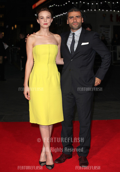 Carey Mulligan and Oscar Isaac arriving for the Inside Llewyn Davis Premiere, at Odeon Leicester Square, London. 15/10/2013 Picture by: Alexandra Glen / Featureflash
