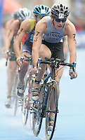 31 AUG 2007 - HAMBURG, GER - Erik Strand (SWE) - Under 23 Mens World Triathlon Championships. (PHOTO (C) NIGEL FARROW)