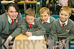 QUIZ TIME: Representing Dromclough NS, Listowel who went on to take 3rd place in the U13 section of the Credit Union Chapter 23 Quiz held in the ITT North Campus on Sunday afternoon were l-r: Sarah Browne, Gearo?id Galvin, Shay Healy and Christopher McKenna.