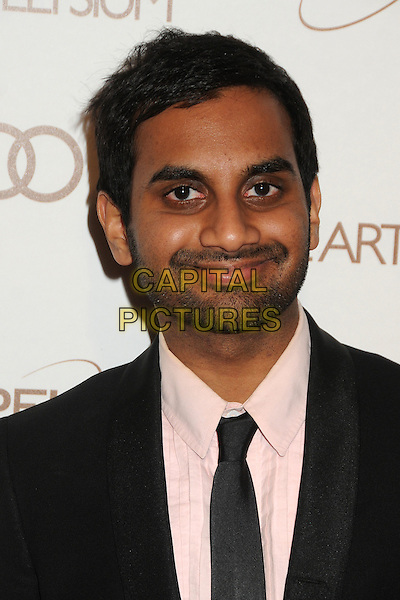 Aziz Ansari.5th Annual Art Of Elysium Heaven Gala held at Union Station, Los Angeles, California, USA, 14th January 2012..arrivals portrait headshot black tie white shirt beard facial hair .CAP/ADM/BP.©Byron Purvis/AdMedia/Capital Pictures.
