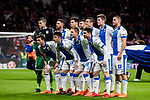 Players of CD Leganes line up and pose for a photo prior to the La Liga 2017-18 match between Atletico de Madrid and CD Leganes at Wanda Metropolitano on February 28 2018 in Madrid, Spain. Photo by Diego Souto / Power Sport Images