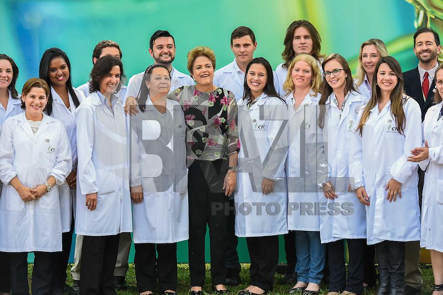 PIRACICABA,SP, 14.10.2015 - DILMA-SP. A presidente Dilma Rousseff durante a inauguração do complexo de laboratórios de biotecnologia do CTC (Centro de Tecnologia Canavieira), em Piracicaba (SP), nesta quarta-feira, 14. (Foto: Mauricio Bento/ Brazil Photo Press/Folhapress)