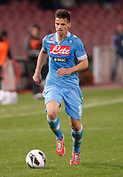 Naples's    Christian Maggio controls the ball  during Italian Serie A soccer match against Genoa at the San Paolo  stadium in Naples April 7, 2013