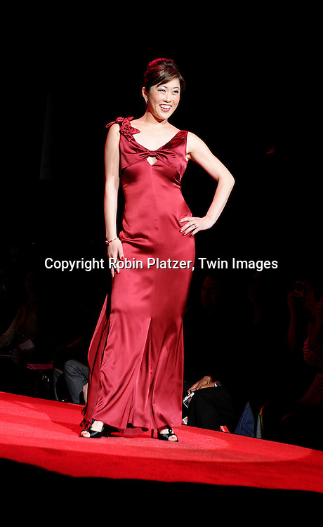Kristi Yamaguchi in Vera Wang dress..at The Heart Truth's Red Dress Fashion Show on February 12, 2009 at Mercedes Benz FAshion Week. Swarovski was one of the sponsers for this show. ....Robin Platzer, Twin Images