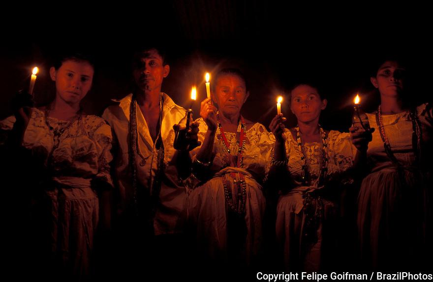 Tambor de Mina, religious celebration. Lençóis Maranhenses dunes. State: Maranhão; Brazil.